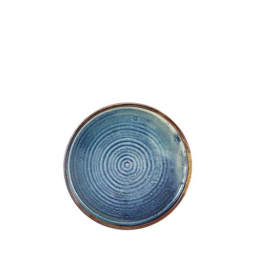 Genware Terra Porcelain Presentation Plate 18cm Aqua Blue