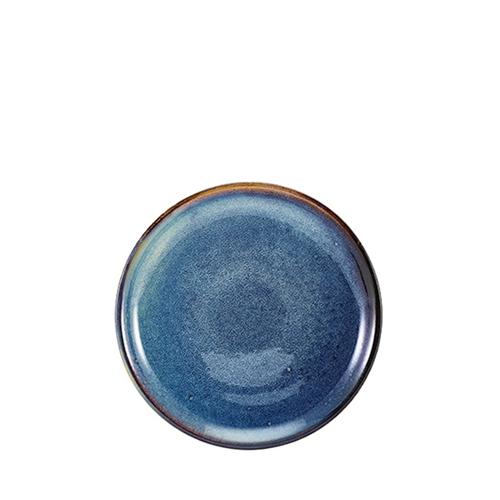 Genware Terra Porcelain Coupe Plate 19cm Aqua Blue