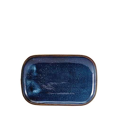 Genware Terra Porcelain  Rectangular Plate 24 x 16.5cm Aqua Blue