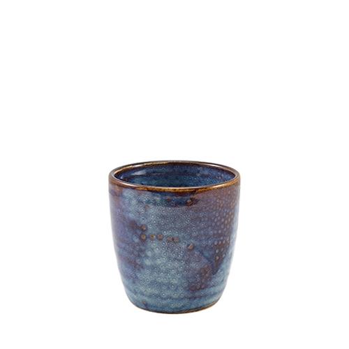 Genware Terra Porcelain Chip Cup 32cl Aqua Blue