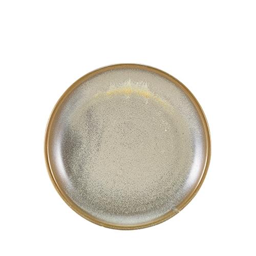 Genware Terra Porcelain Coupe Plate 24cm Matt Grey