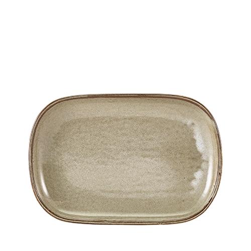Genware Terra Porcelain Rectangular Plate 29 x 19.5cm Matt Grey