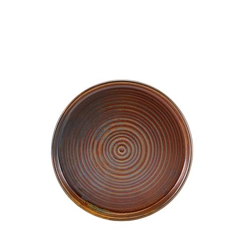Genware Terra Porcelain Presentation Plate 21cm Rustic Copper