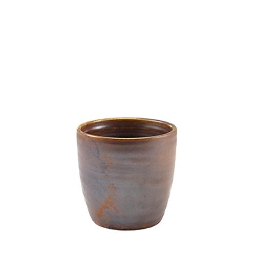 Genware Terra Porcelain Chip Cup 32cl Rustic Copper