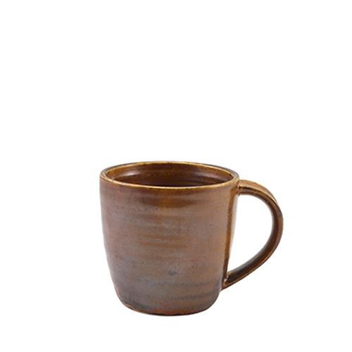 Genware Terra Porcelain Mug 32cl Rustic Copper
