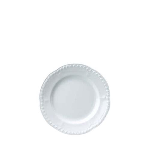 """Churchill Buckingham Embossed Plate 6.5"""" White"""