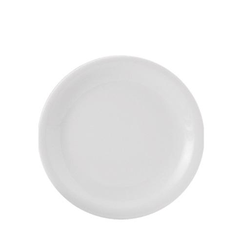 Utopia Porcelain Narrow Rim Plate 8.5