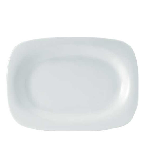 Utopia Porcelain Rectangular Rim Plate 9.5