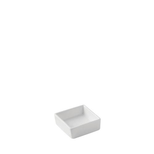 Utopia Porcelain  Square Dish 6.6cm White