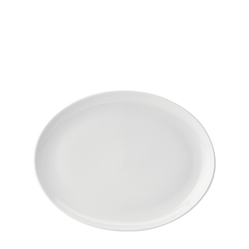 Utopia Pure White Oval Plate 10