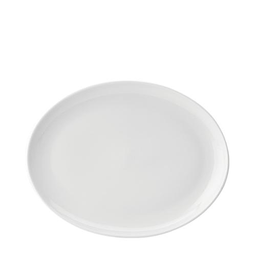 Utopia Pure White Oval Plate 12