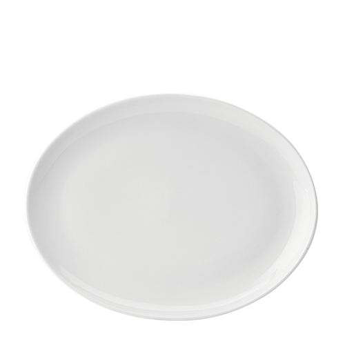 Utopia Pure White Oval Plate 14