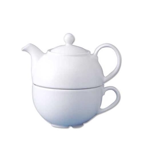 Churchill Plain White One Cup Teapot 13oz