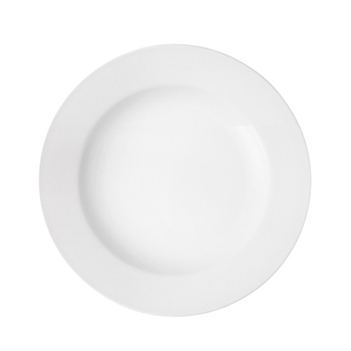 Utopia Pure White Wide Rim Plate 11.5