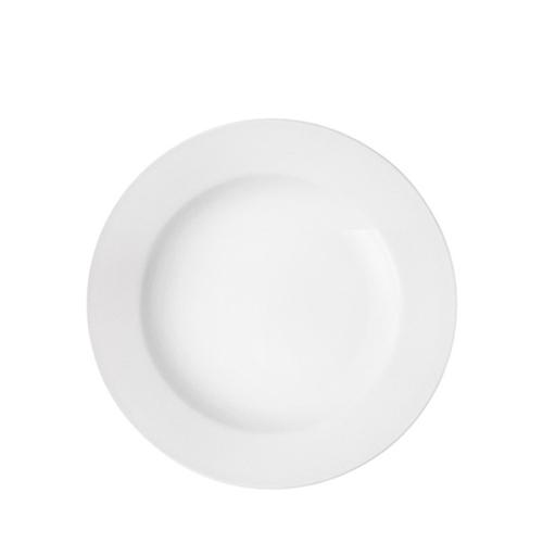 Pure White Wide Rim Plate