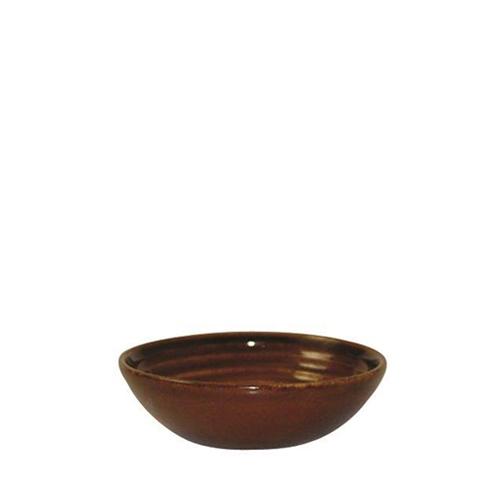 Churchill Bit On The Side Cinnamon Glaze Ripple Dip Dish 5oz Brown