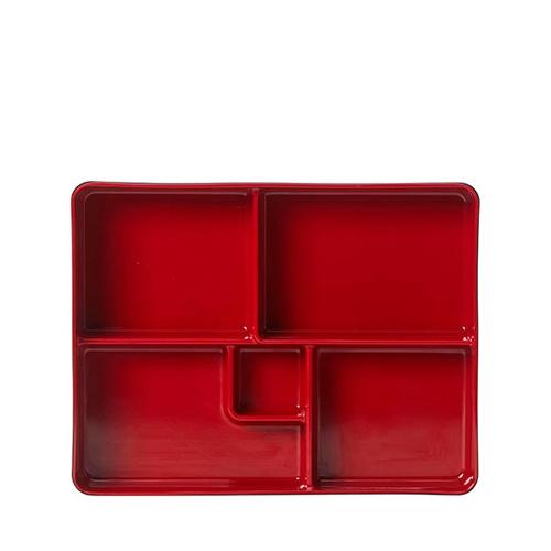 Steelite Karma Melamine Bento Box 27.3 x 21.3 x 5cm Red/Black