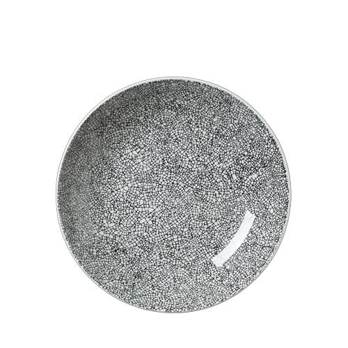 Steelite Ink Crackle Coupe Bowl 25.25cm Black