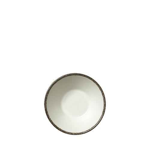 Steelite Dapple Charcoal Essence Bowl 14cm White/Charcoal