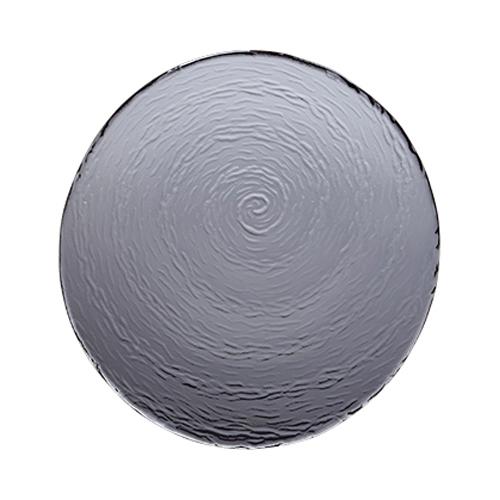 Steelite Scape Round Glass Platter 30cm Smoked
