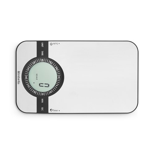 Brabantia Profile Digital Kitchen Scales with Timer 5kg/1g Graduation Matt Steel