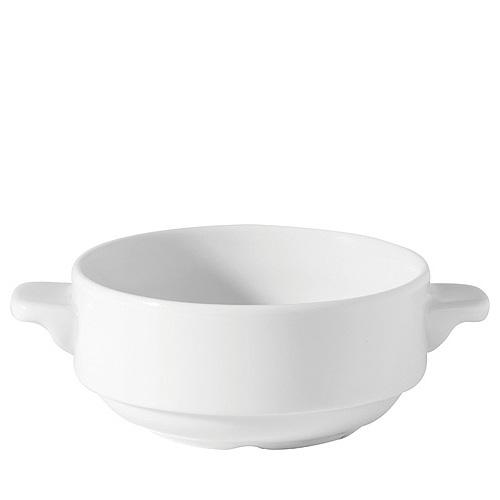 Utopia Porcelain Lugged Soup Bowl 10oz White