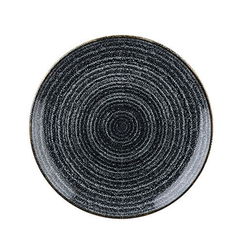 Churchill Studio Prints Homespun Coupe Plate 26cm Black