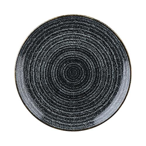 Churchill Studio Prints Homespun Coupe Plate 28.8cm Black