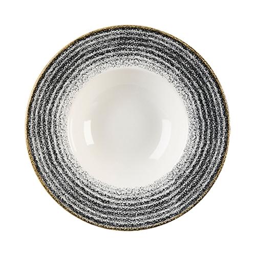 Churchill Studio Prints Homespun Wide Rim Bowl 27.69cm Black