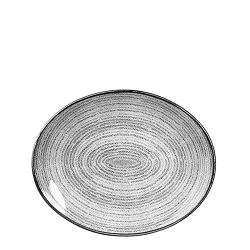 Churchill Studio Prints Homespun Oval Coupe Plate 27cm Grey