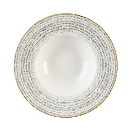 Churchill Studio Prints Homespun Homespun Wide Rim Bowl 27.69cm Grey