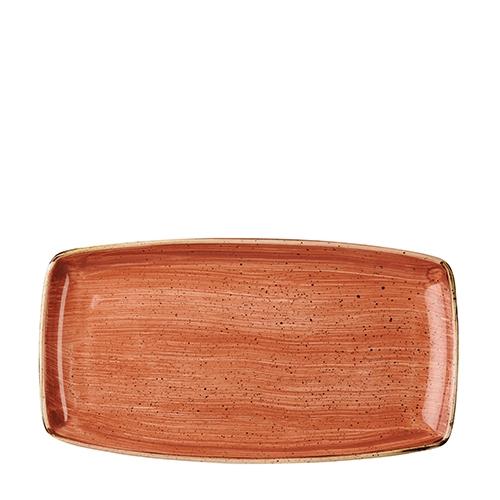 Churchill Stonecast Oblong Plate 34.5 x 18.5cm Spiced Orange
