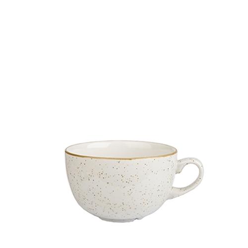 Churchill Stonecast Cappuccino Cup 8oz Barley White