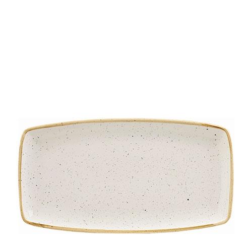Churchill Stonecast Oblong Plate 34.5 x 18.5cm Barley White