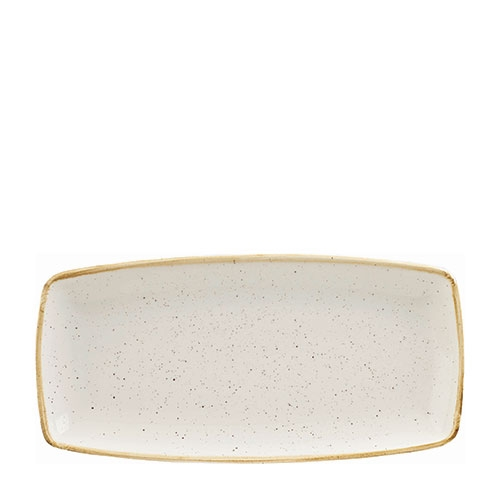 Churchill Stonecast Oblong Plate 29.5 x 15.3c m Barley White