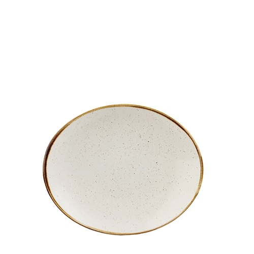 Churchill Stonecast Coupe Plate 19.7 x 16cm Barley White
