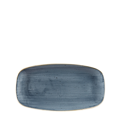 Churchill Stonecast Oblong Chefs Plate 29.8 x 15.3cm Blueberry