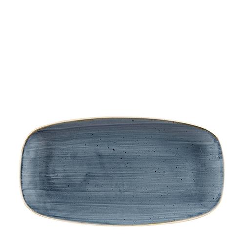 Churchill Stonecast Oblong Chefs Plate 35.5cm x 18.9cm Blueberry