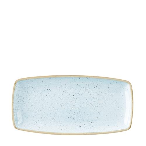 Churchill Stonecast Oblong Plate 34.5cm  Duck Egg Blue