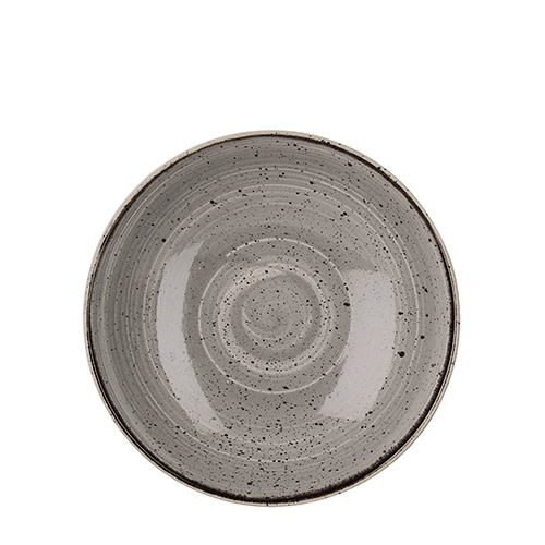 Churchill Stonecast Coupe Bowl 113.6cl (40oz) Peppercorn Grey