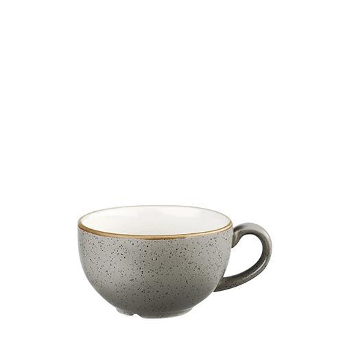 Churchill Stonecast Cappuccino Cup 8oz Peppercorn Grey