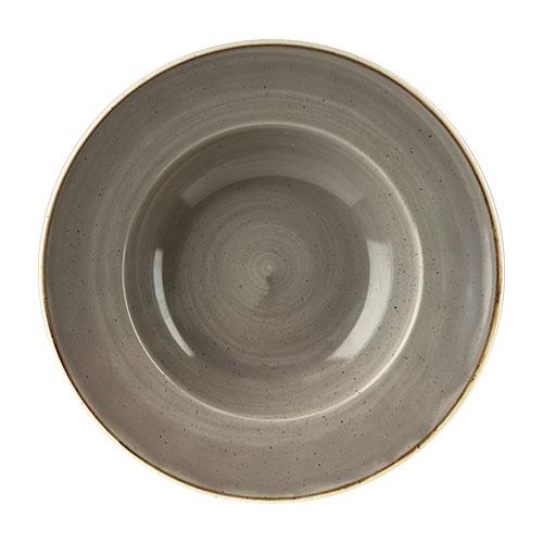 Churchill Stonecast Wide Rim Bowl 27.69cm Peppercorn Grey