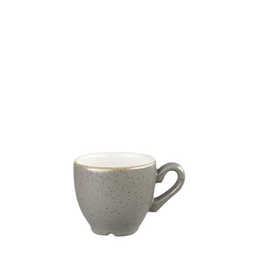 Churchill Stonecast Espresso Cup 9cl Peppercorn Grey