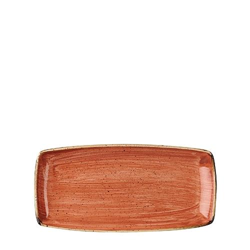 Churchill Stonecast Oblong Plate 29.5 x 14cm Spiced Orange