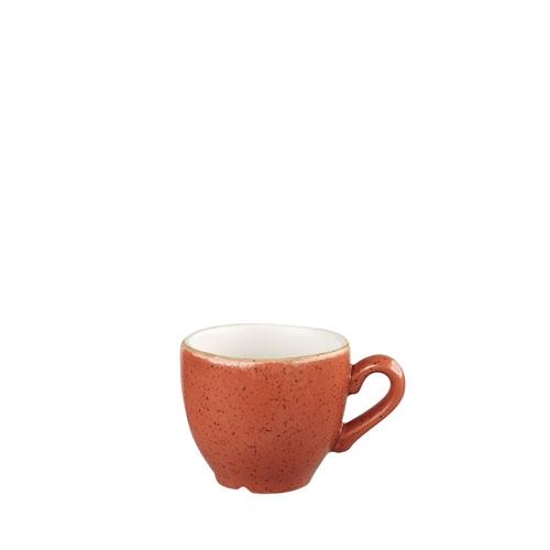 Churchill Stonecast Espresso Cup 9cl Spiced Orange