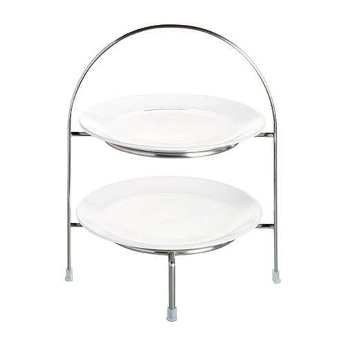 2 Tier Plate Stand 21cm Chrome Plated