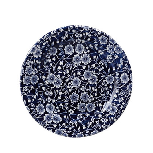 "Churchill Vintage Print  Willow Victorian Calico Plate 10.875""  Blue"