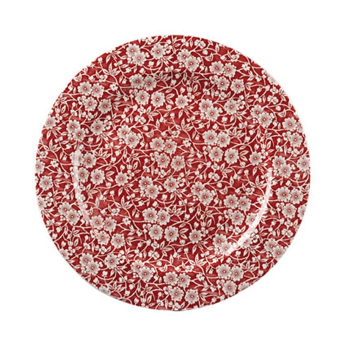 Churchill Vintage Print  Cranberry Victorian Calico Plate 12