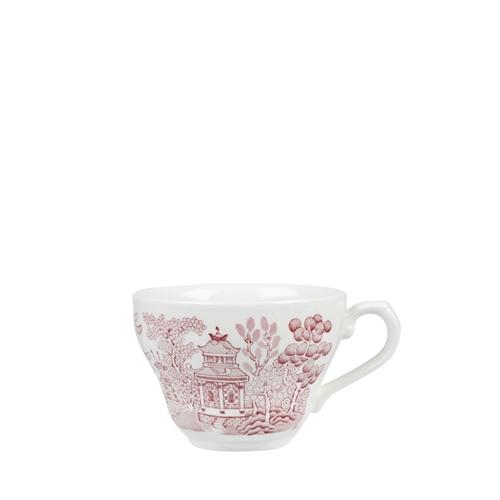 Churchill Vintage Prints Cranberry Willow Georgian Teacup 7oz Pink/White