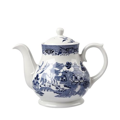 Churchill Vintage Print  Sandringham Tea/Coffee Pot 30oz Blue
